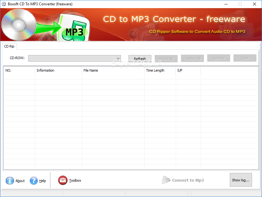 Download Boxoft CD to MP3 Converter 1.0 Boxoft CD to MP3 Converter - This is the main window of Boxoft CD to MP3