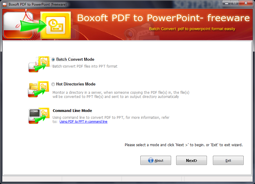 Download Boxoft PDF to PowerPoint 1 2