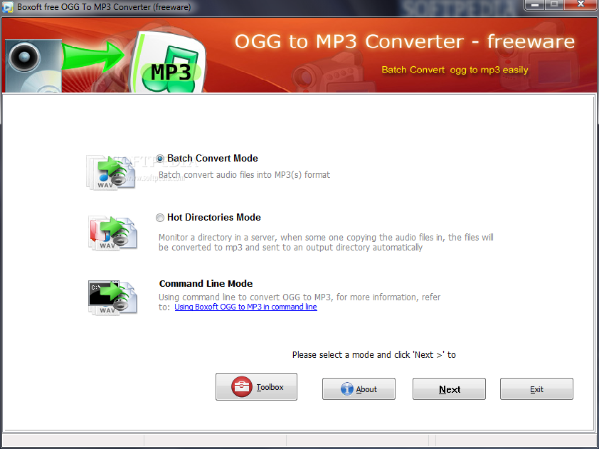 Download Boxoft free Ogg to MP3 Converter 1 0