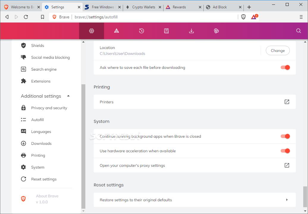 Download Brave Browser 0 67 124 / 0 68 121 Beta / 0 69 100 Developer