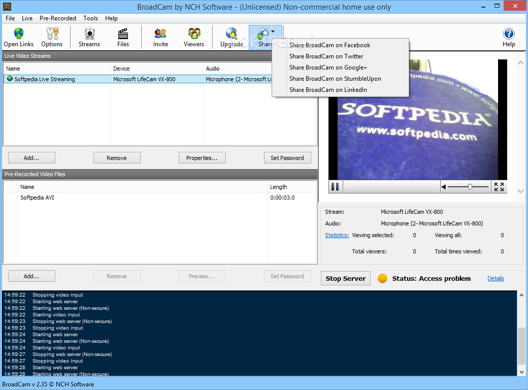 Download BroadCam Video Streaming Server 2 35