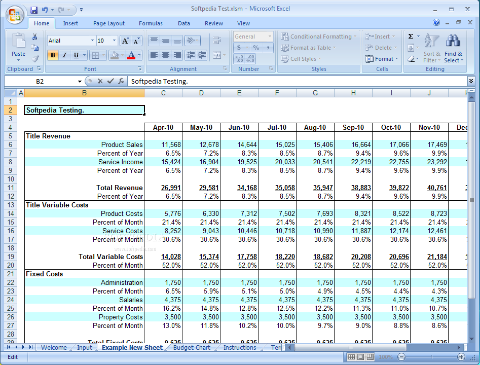 excel business budget templates