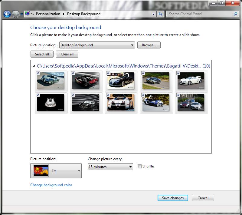 Windows Xp Theme File Software: Download Bugatti Veyron Windows 7 Theme 1.00