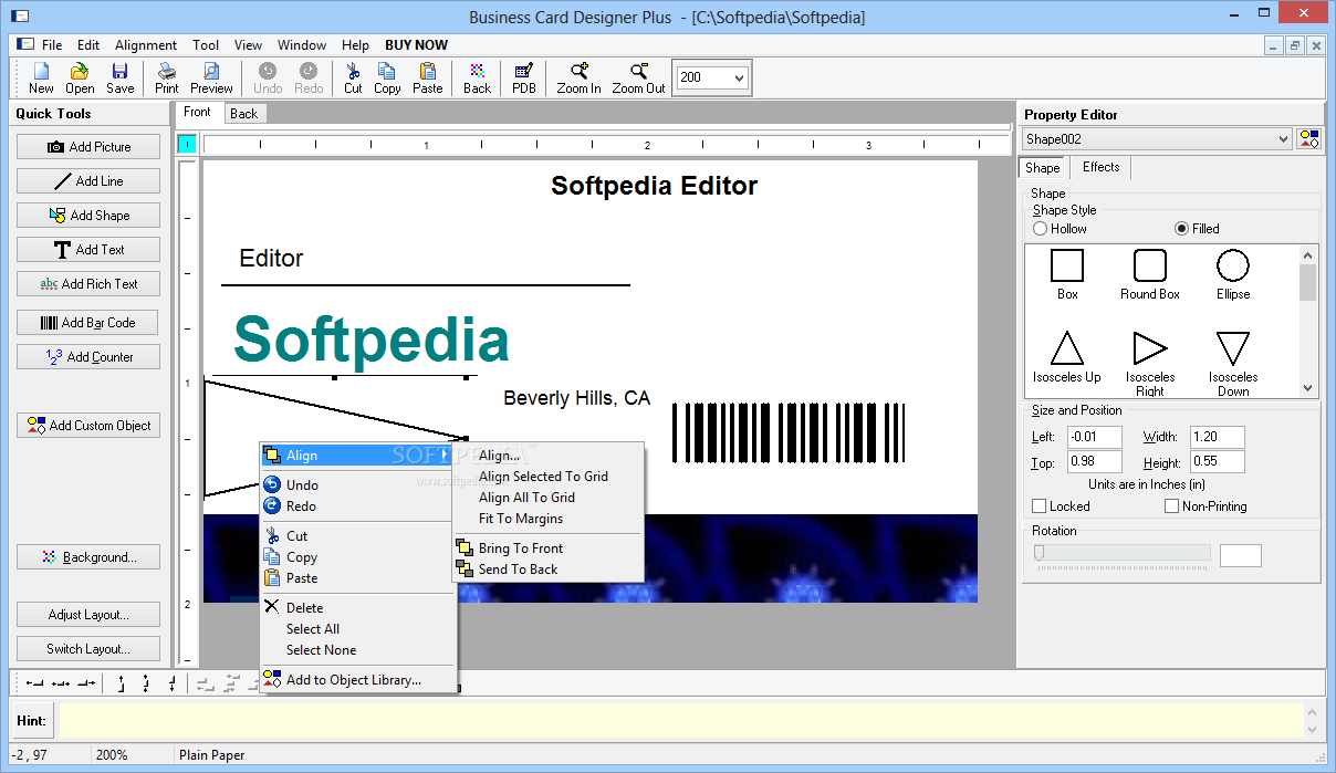Download Business Card Designer Plus 12.0.6.0
