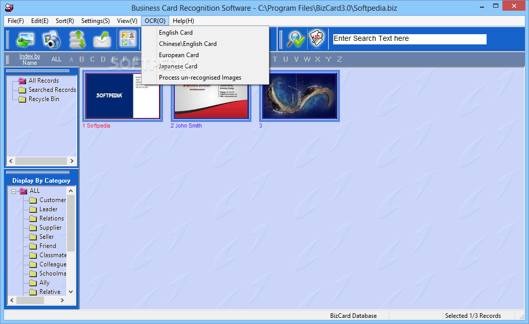 Download Business Card Recognition Software 30 Build 9284