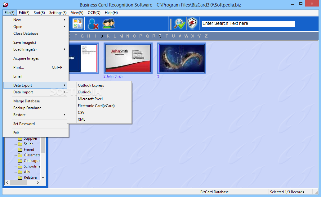 Download Business Card Recognition Software 3.0 Build 9284