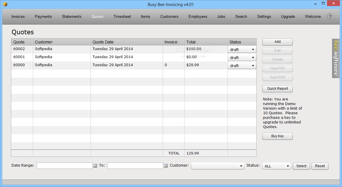 Download Busy Bee Invoicing - Invoice bee