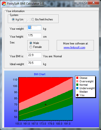 Download FinitySoft BMI Calculator 1 0