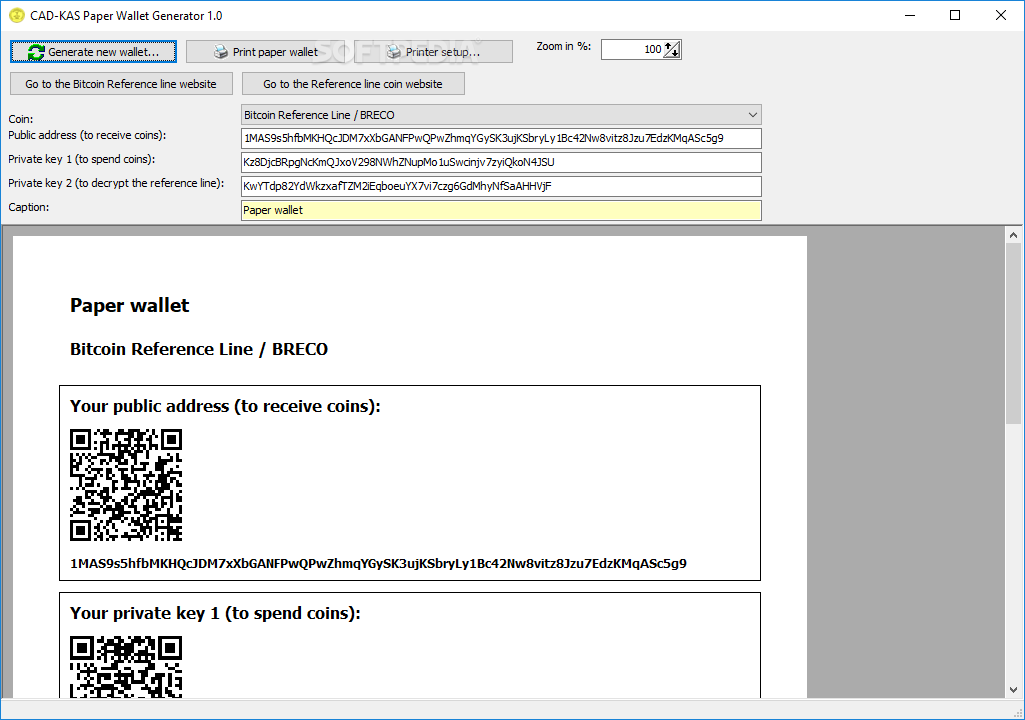 Litecoin Paper Wallet Generator Free Bitcoin For Clicking A