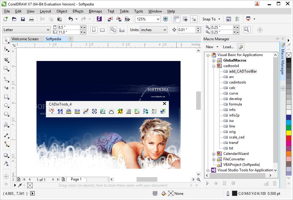 Download CADinTools Macros for CorelDRAW 4 0 5 49