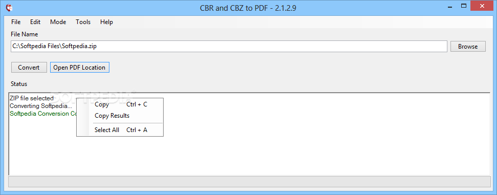 Download CBR and CBZ to PDF 2 1 2 9