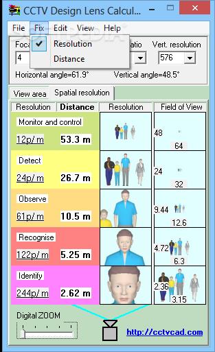 Download CCTV Design Lens Calculator 3 6 0 0