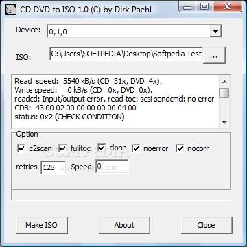 how to create an iso image from a cd