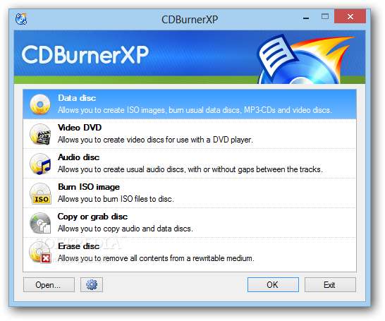 download xp burner windows 7