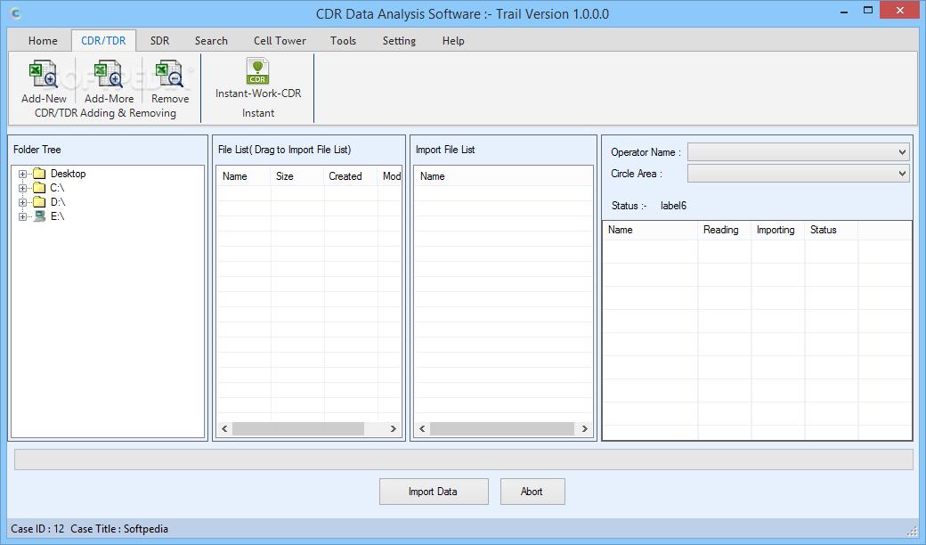 Download CDR Data Analysis Software 3 0 0 0
