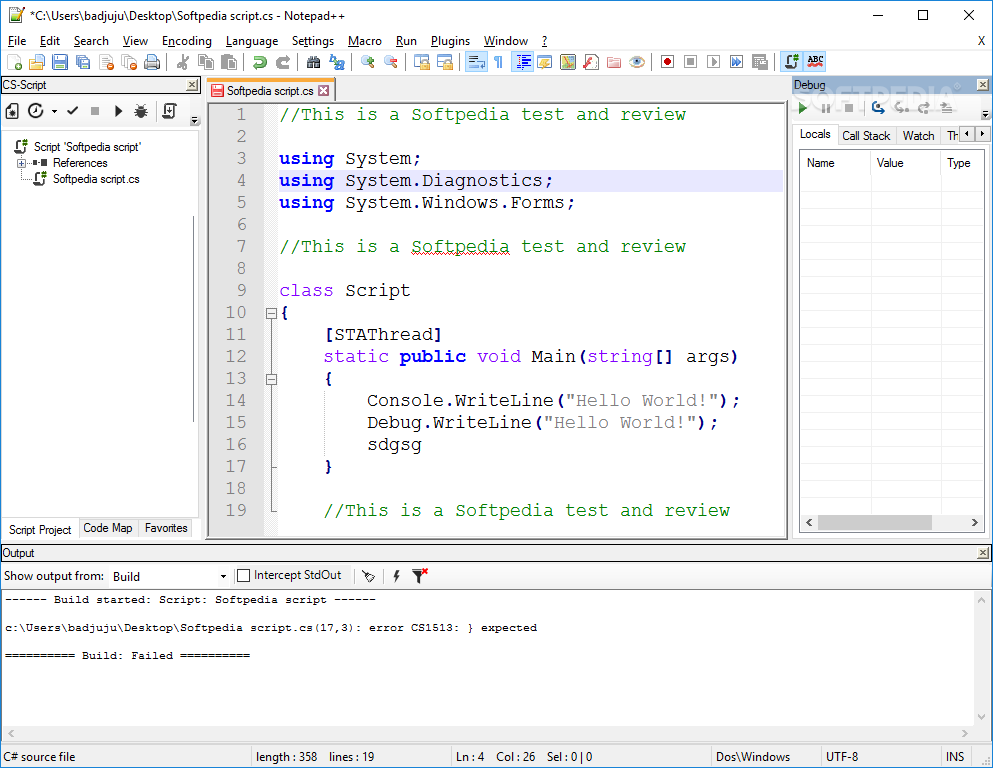 Download CS-Script for Notepad++ v1 7 24