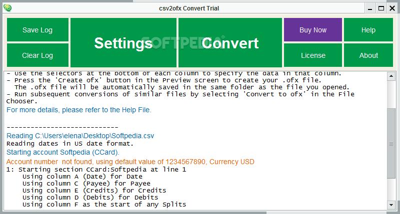 Download csv2ofx Convert 12 3 02