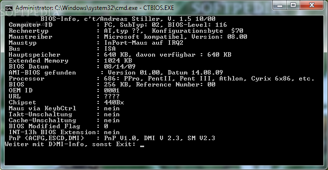how to get to bios with win 19