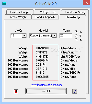 Download cablecalc 203 keyboard keysfo
