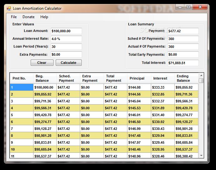 download loan amortization calculator 1 0 0 0