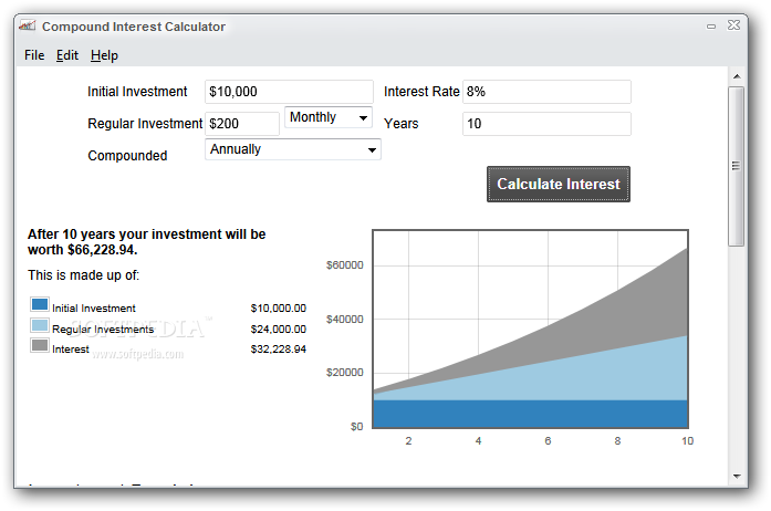 Compound Interest Calculator 10.0 Download (Free) - calc.exe