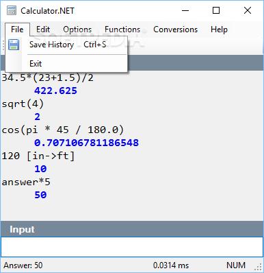 Download Calculator NET 1 2 0 42