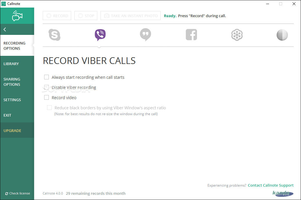 Callnote Premium screenshot 2 - The main window of Callnote Premium enables you to review all the recorded actions