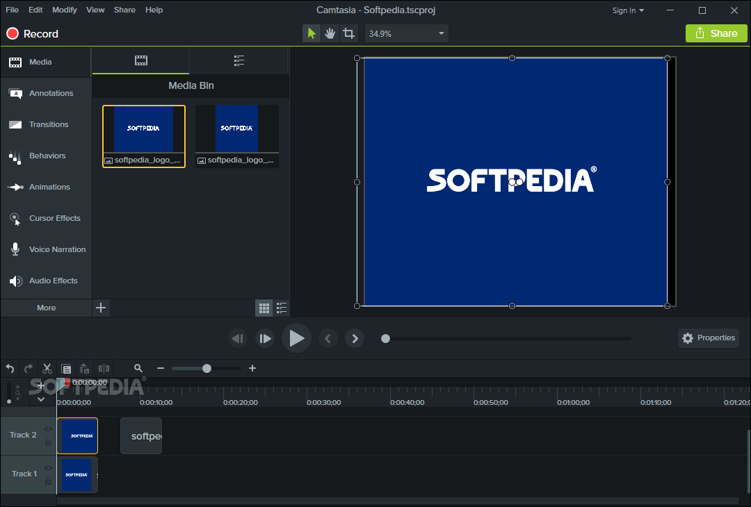 Screenshot Camtasia Studio