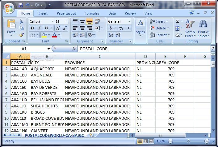 download canadian postal code database  basic edition  may