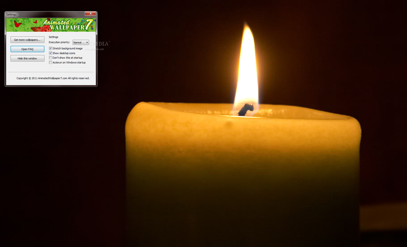 Download Candle Animated Desktop Wallpaper 100