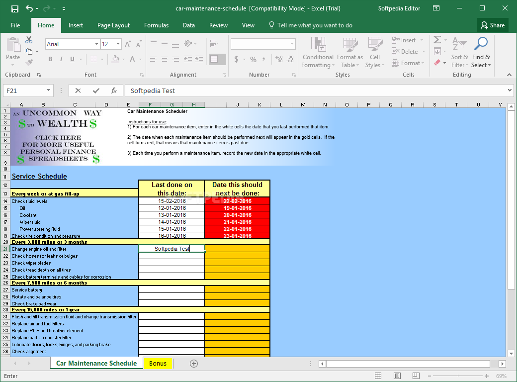car maintenance spreadsheet	  Download Car Maintenance Schedule Spreadsheet