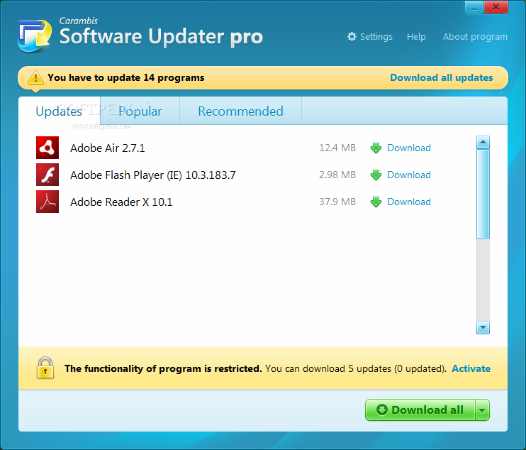 Download Carambis Software Updater Pro 2 3 0 5412