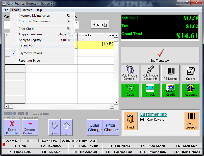 cash register software for pc free download