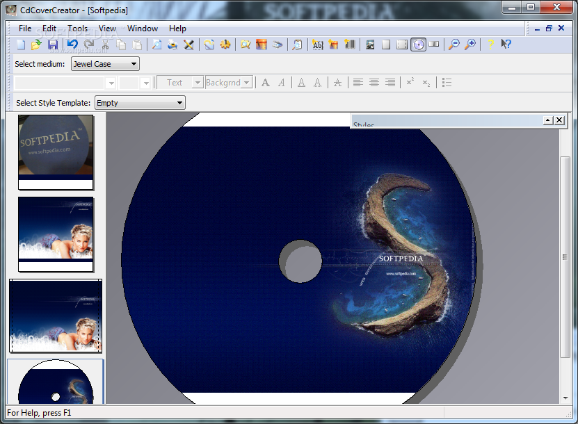 Download cdcovercreator 253 for Cd case cover maker