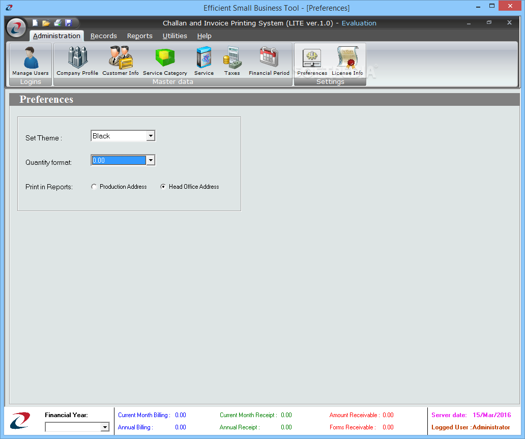 Download Challan And Invoice Printing System LITE - Invoice printing software