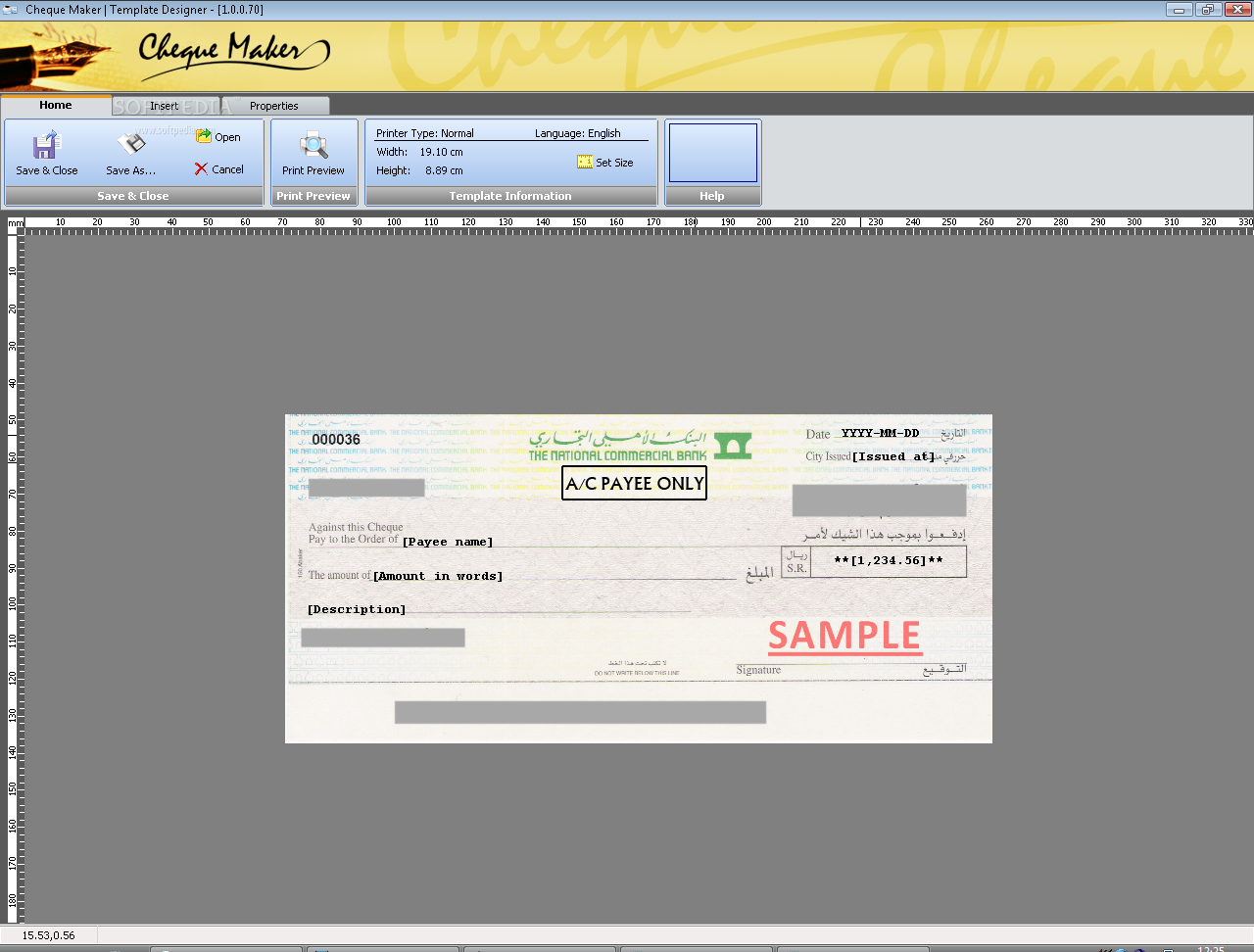 Download Cheque Maker 1.3.0.30