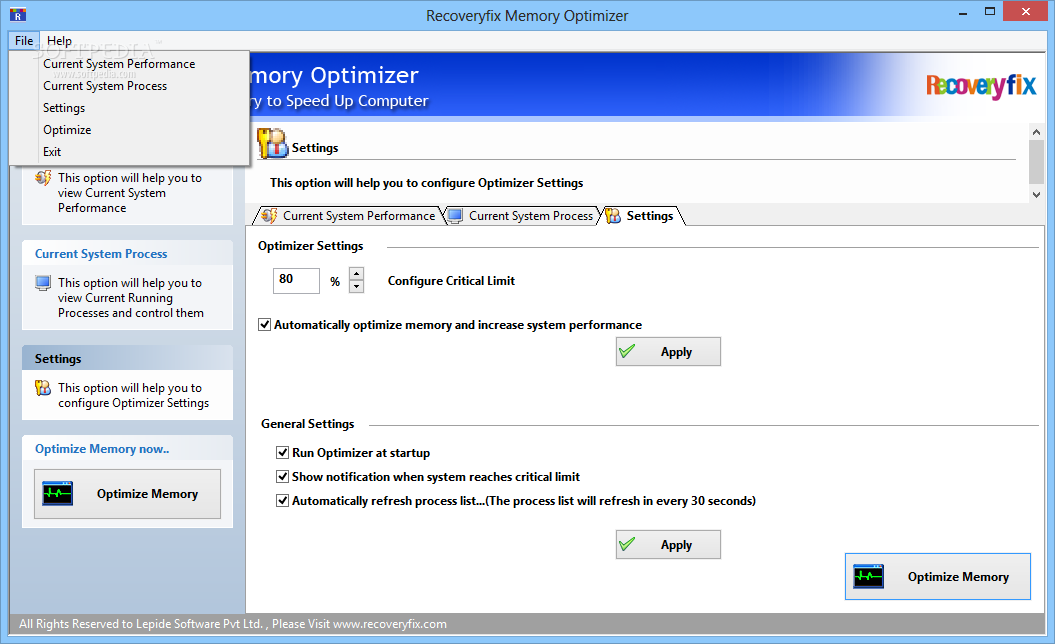 Recoveryfix Memory Optimizer Formerly Chily Memory
