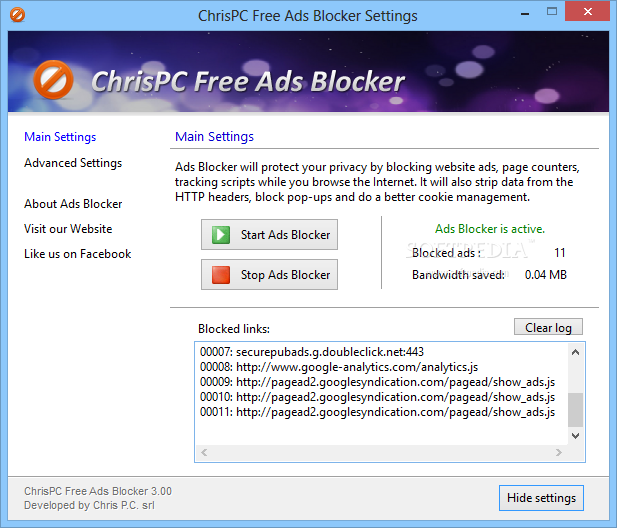 Download ChrisPC Free Ads Blocker 4 40