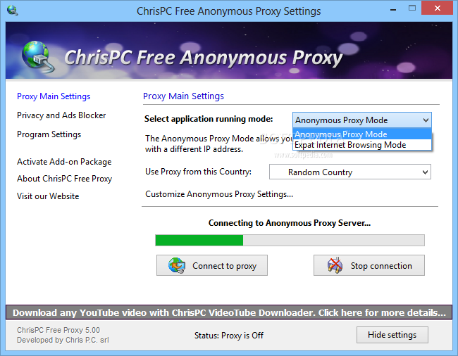 chrispc free anonymous proxy software free download