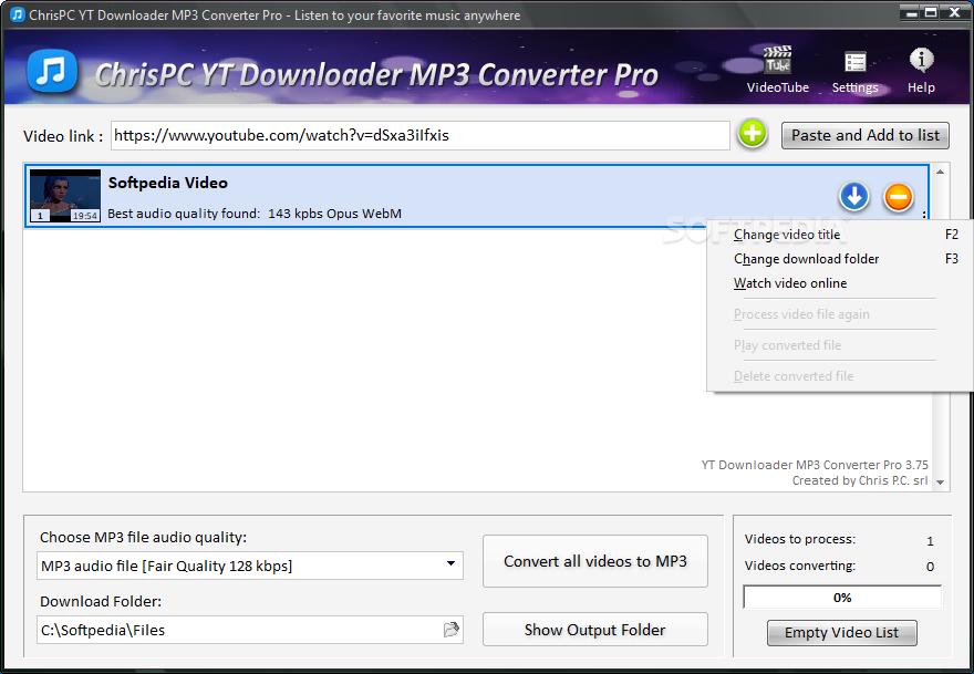Download ChrisPC YTD Downloader MP3 Converter Pro 3 30