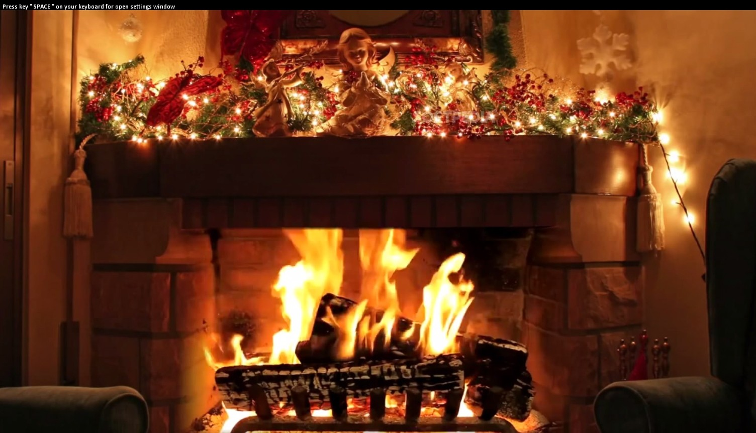 Christmas Fireplace ScreenSaver  Christmas Fireplace ScreenSaver is a