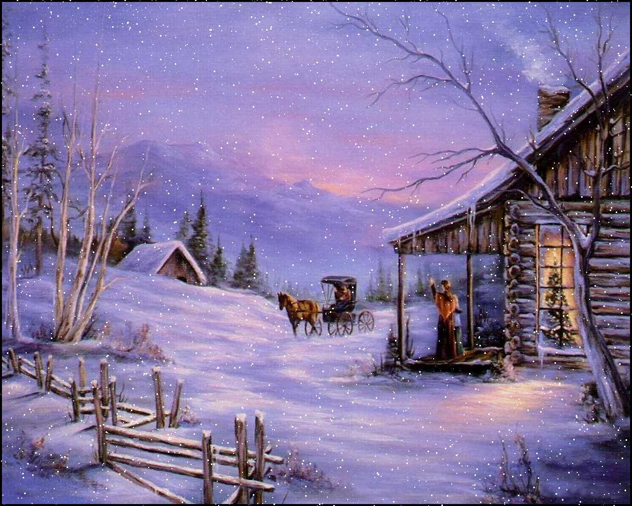 3d winter scenes wallpaper - photo #18