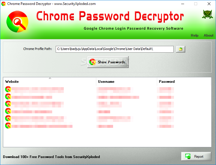 Download Chrome Password Decryptor 10 0