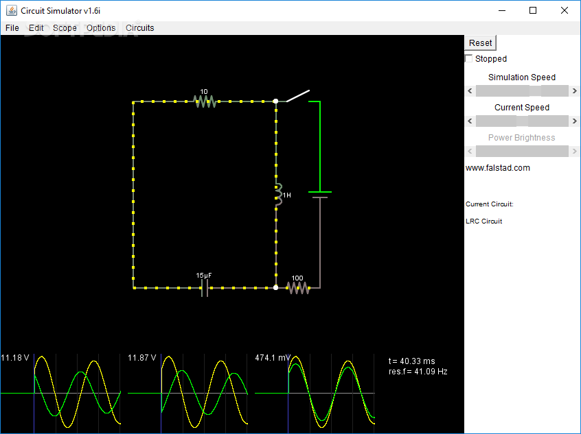 Download Circuit Simulator 1.6i
