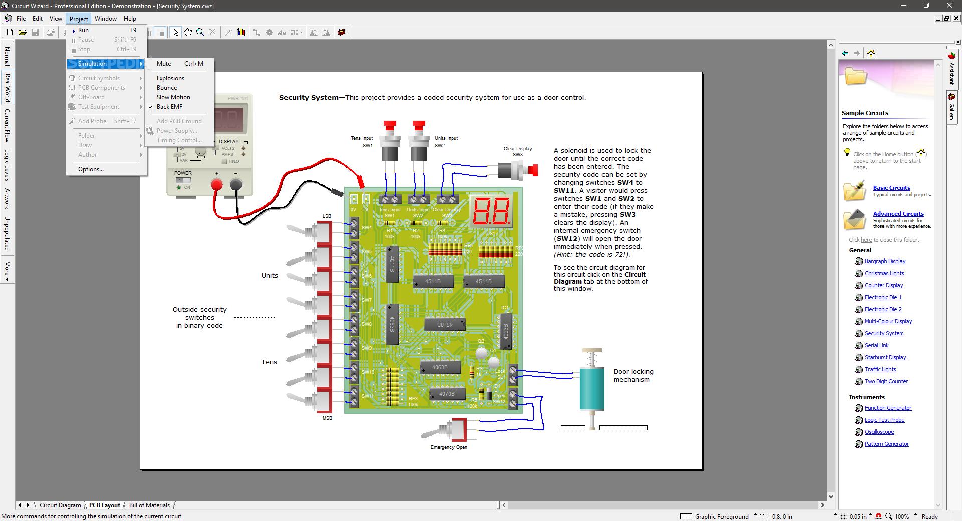 Download Circuit Wizard Professional Edition 160 Electronic Simulator Screenshot 5