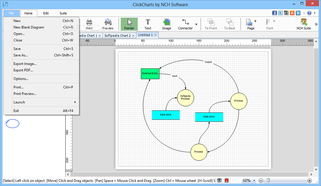 Clickcharts Free Diagram And Flowchart Maker Download