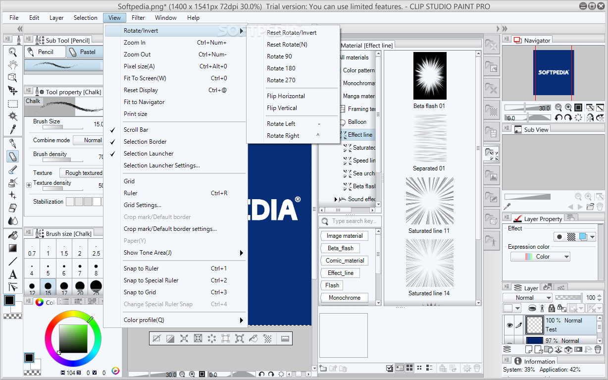 how to sort download material clip studio paint