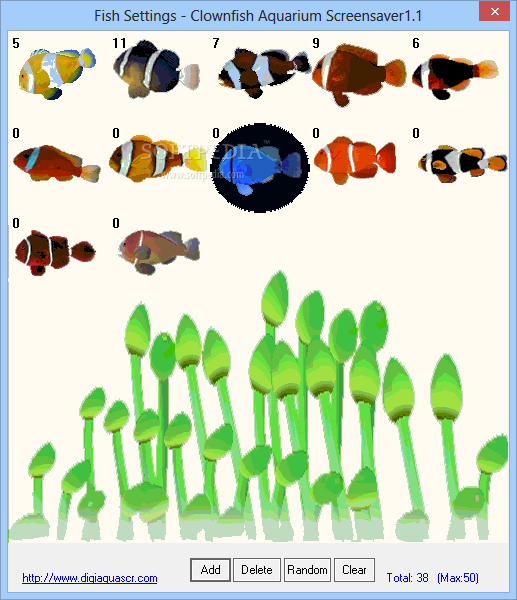 Clownfish Aquarium Screensaver - You can select the types and number ...