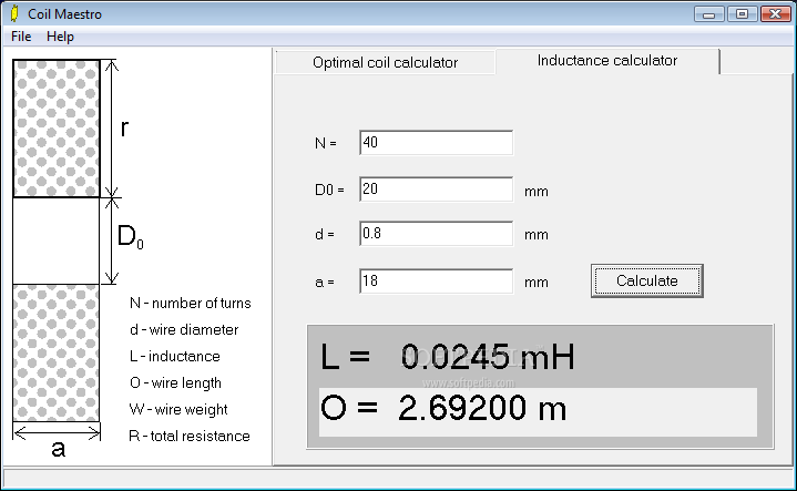 Coil wire resistance calculator wire center download coil maestro rh softpedia com wire gauge resistance calculator awg wire resistance calculator greentooth Gallery