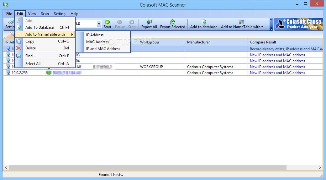 Colasoft Mac Scanner 1.1 Free Download